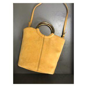 J. Crew mustard suede bag, NEW!